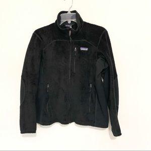 Patagonia Fleece Black Full Zip Sweater Size M